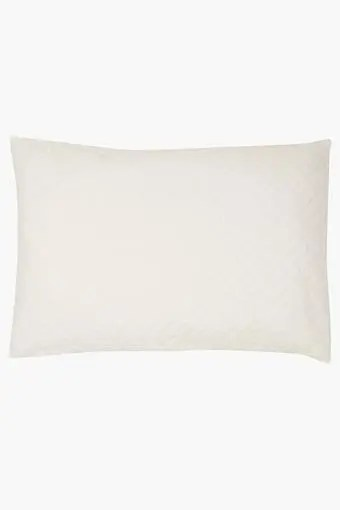rectangular solid quilted pillow protector cover
