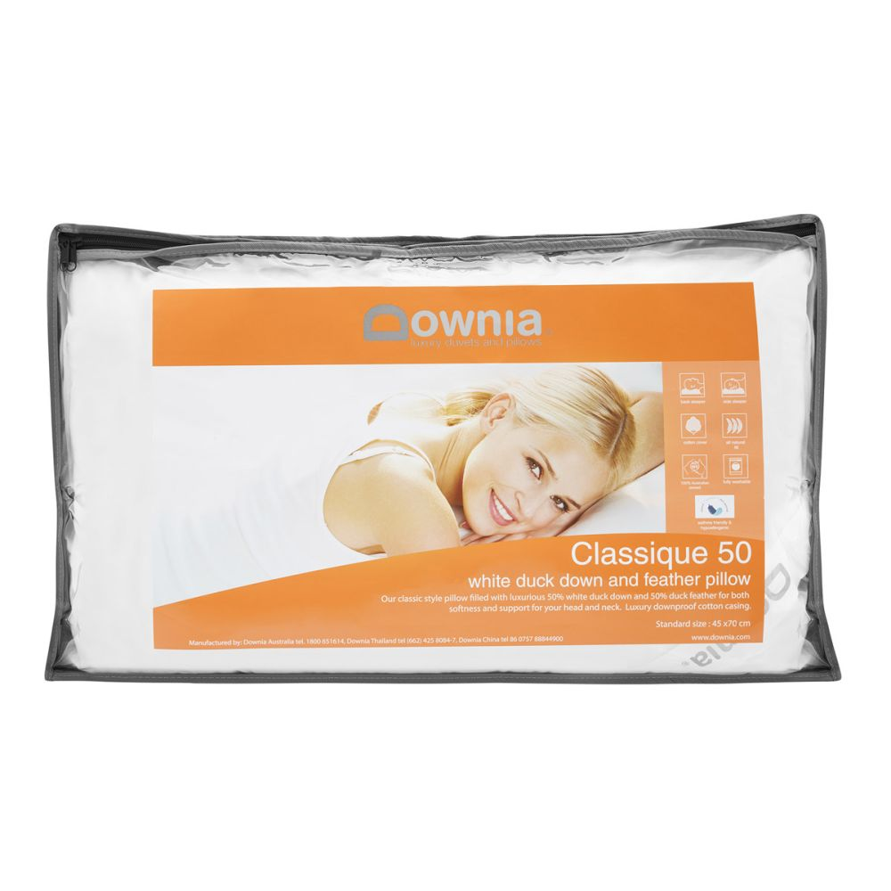 downia 50 duck down and feather pillow