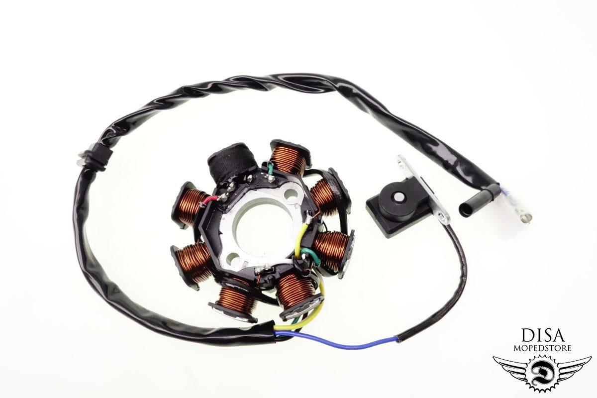 Lichtmaschine Stator Zündung GY6 8-Spulen SYM Fiddle 125