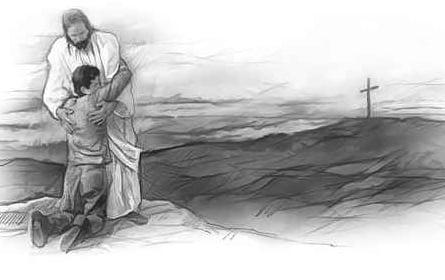Jesus Accepting Man's Confession