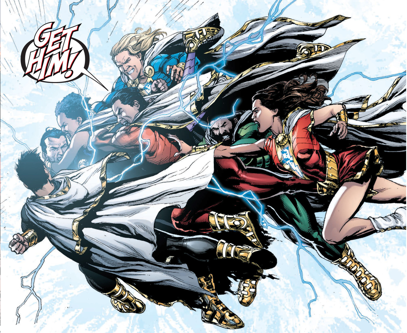 Shazam Family Vs New 52 Black Adam
