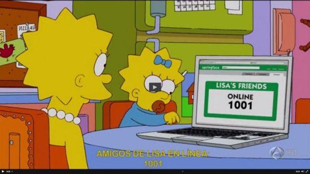 amigos de lisa online 1024x575 Los Simpson y las redes sociales desde una perspectiva sociológica
