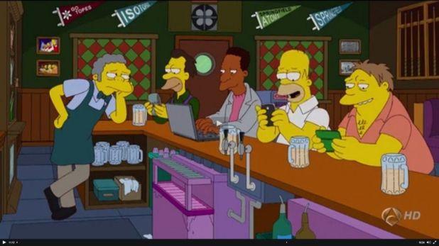 nadie habla cara a cara 1024x575 Los Simpson y las redes sociales desde una perspectiva sociológica