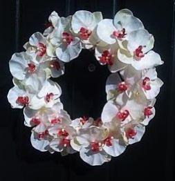 xmas orchid wreath