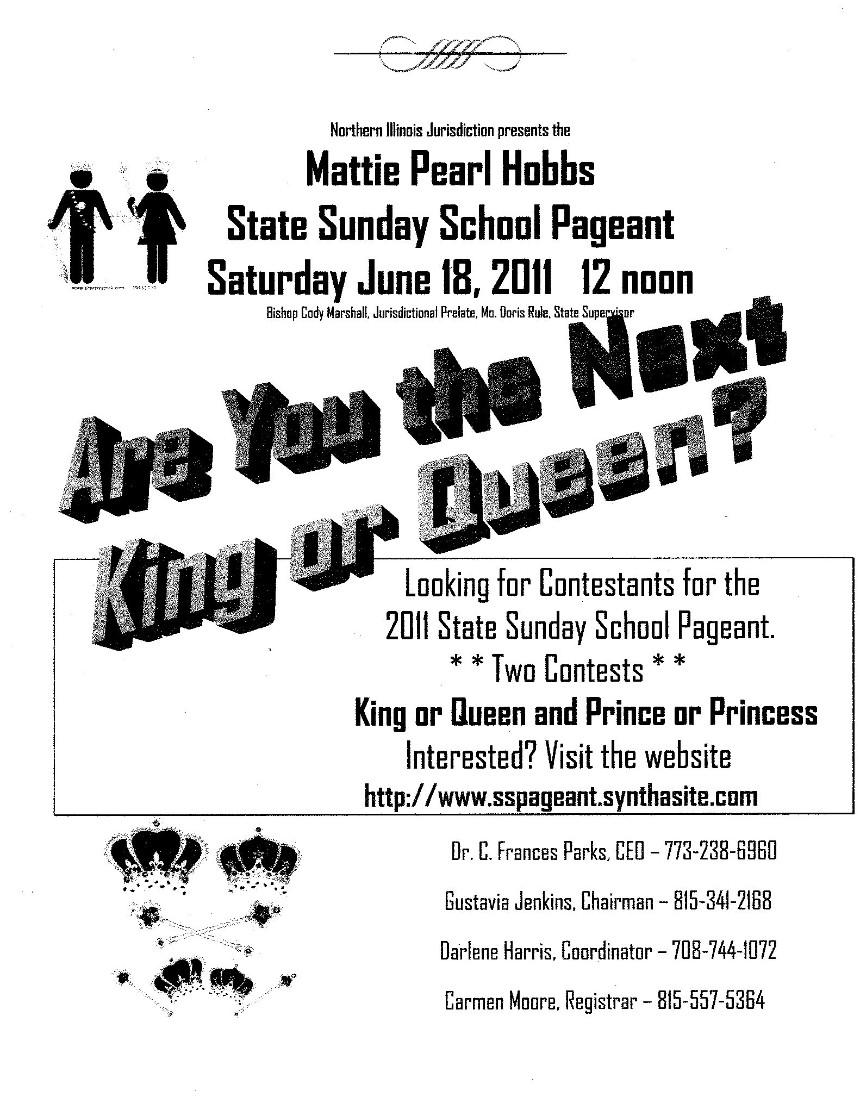 Northern Illinois COGIC Sunday School Pageant