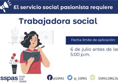 CERRADO – Empleo Trabajadora Social