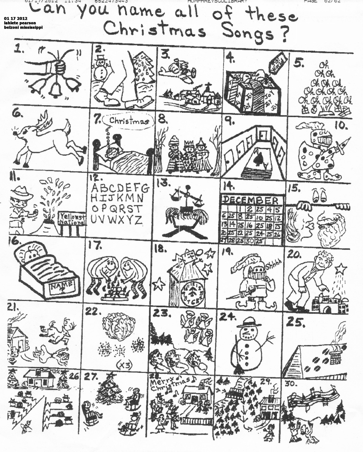 Search Results For Christmas Carol Puzzle Answer Sheet