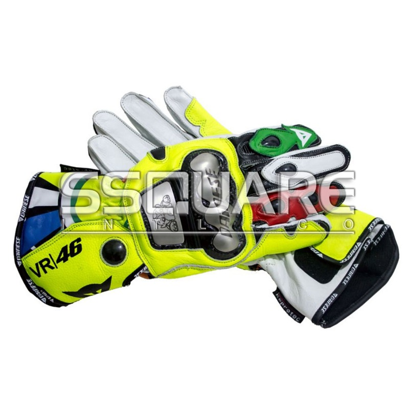 Valentino Rossi Motogp 2012 Race Leather Gloves