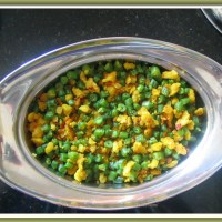 Beans Paruppu Usili (lentil crumble)