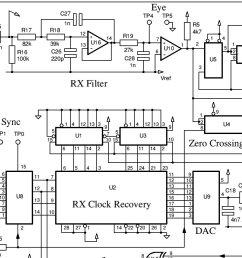 modem schematic split into 4 parts for legibility  [ 1084 x 795 Pixel ]