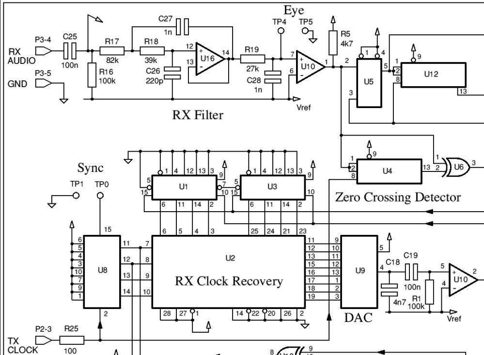 medium resolution of modem schematic split into 4 parts for legibility