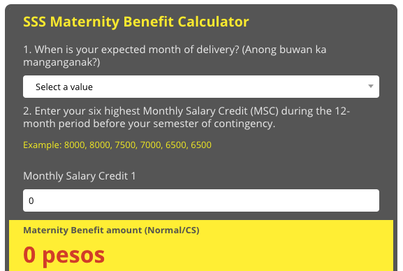 How to calculate maternity benefit (or use our calculator)
