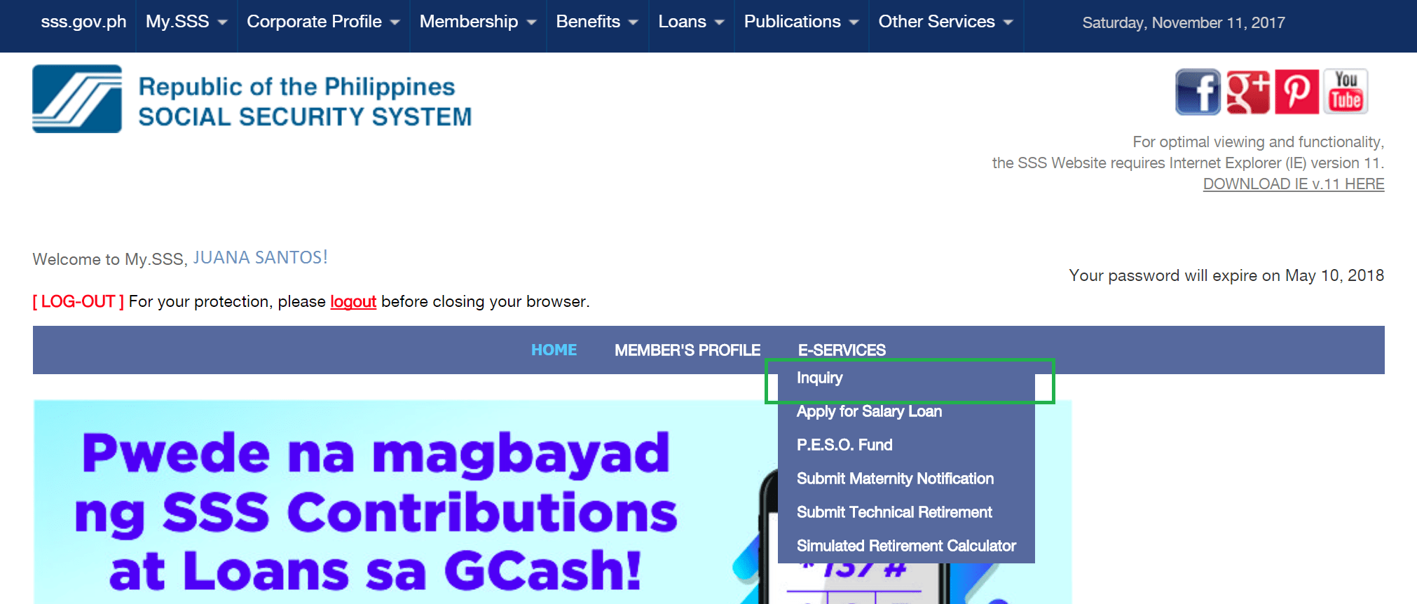 How To Get Your Employment History From Sss Website Sss Inquiries