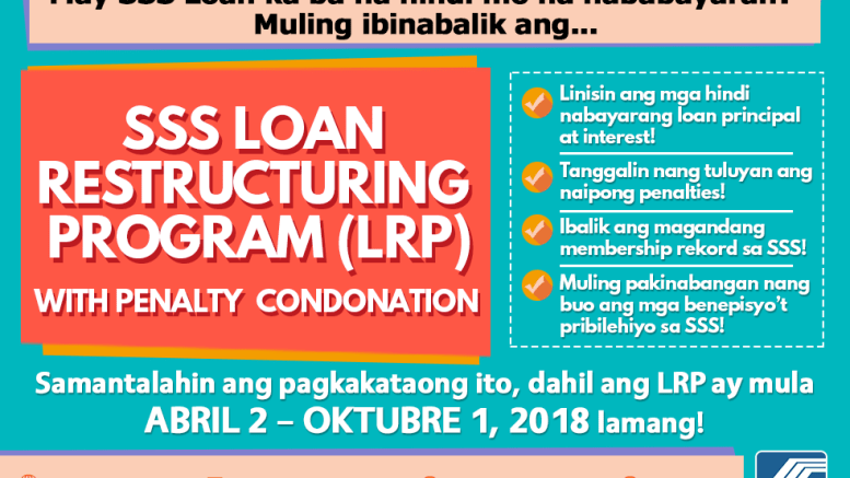 How To Apply For Sss Loan Restructuring Program 2018