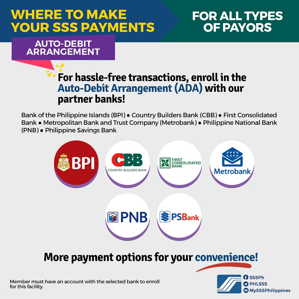 Comprehensive List Of Sss Payment Partners And Banks Sss Inquiries
