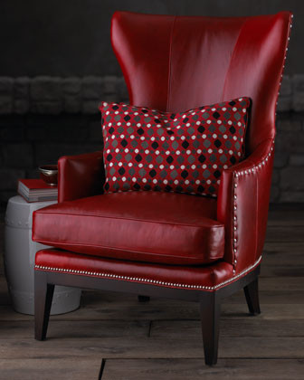DONOVAN RED WING CHAIR  Traditional  Living Room Chairs