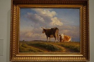"""My favorite piece at the National Gallery of Denmark. It's """"To kier på en åben mark"""" (Two Cows in an Open Field by Johan Thomas Lundbye. He painted this in 1846 (he was twenty seven) but he died two years later!"""