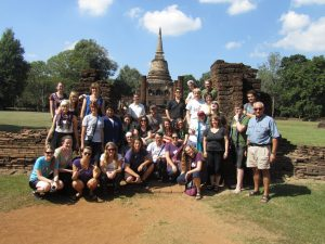 As part of an SSU degree, students travel to Thailand