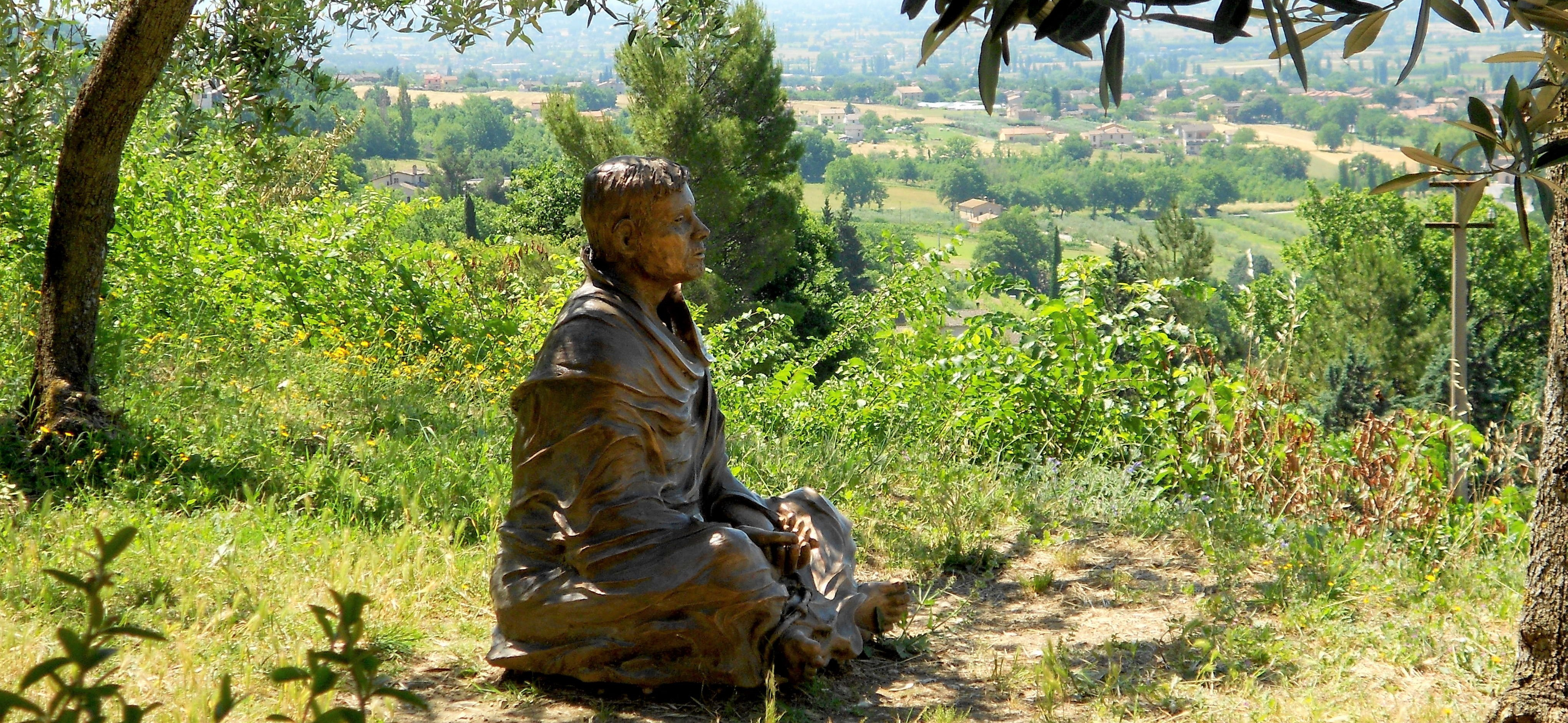 statue of St. Francis in San Damiano