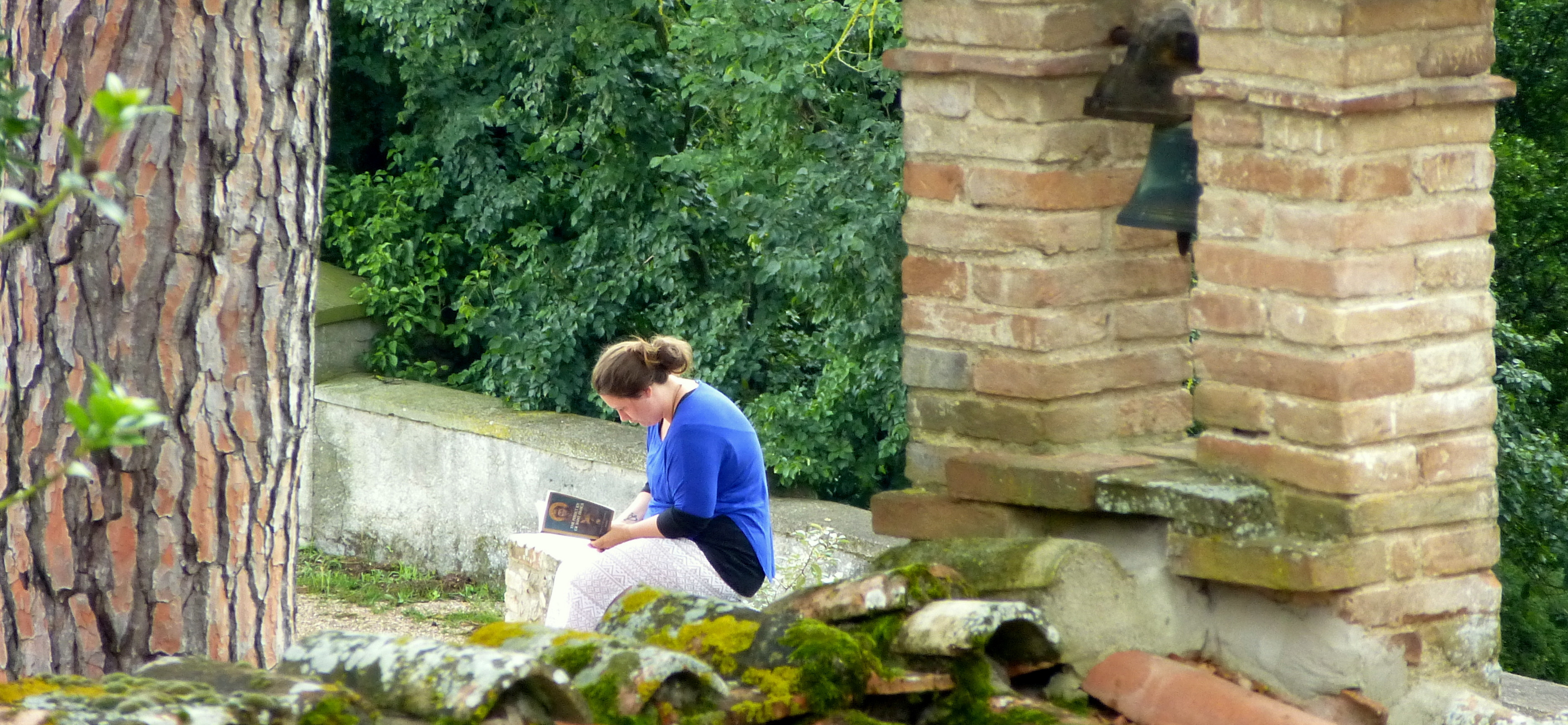contemplative reading by a hermitage in Perugia
