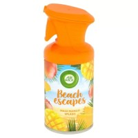 The AirWick Beach Escapes Spray 250ml is a lovely smelling air freshener with a fresh Maui Mango scent.