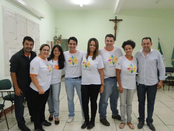 Representantes do Instituto Rondon e o confrade Ronan Oliveira. Foto: André Peixoto