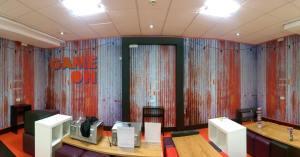 Digitally printed wall covering (printed vinyl wallpaper) for Bath University