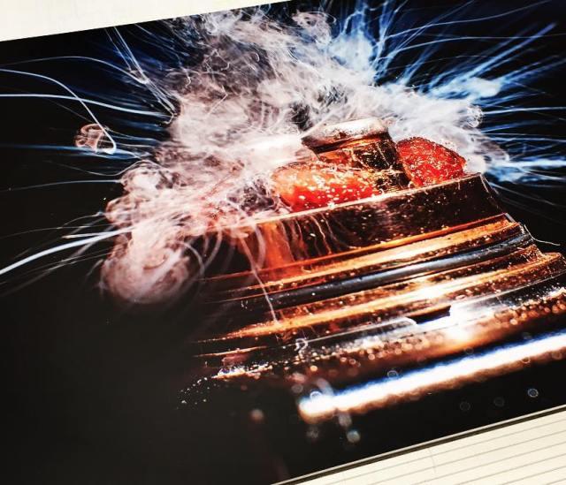 High resolution digital print for local vape shop
