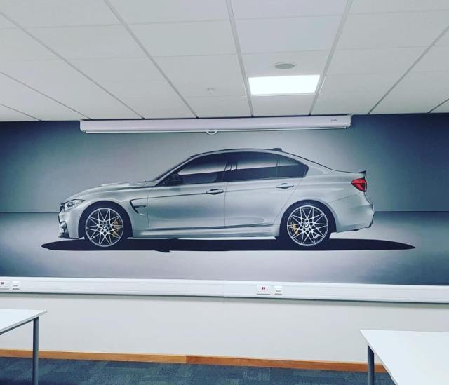 Digital print - Wall covering for BMW installed