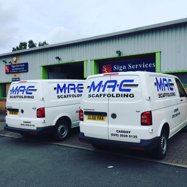 Two more vans in for matching liveries for Mac Scaffolding