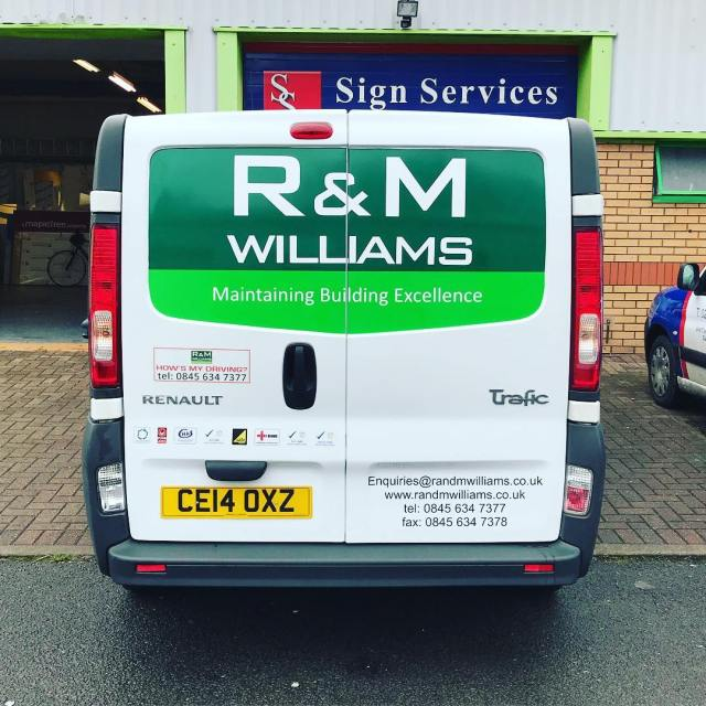 Livery redone on the back of this van after having some repair work done ✅
