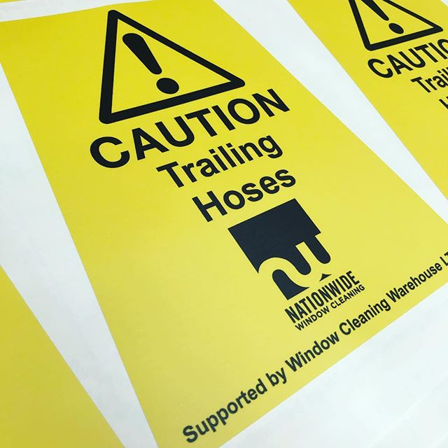 Another 40 meters produced for @windowcleaningwarehouse they get through a lot of these high tac warning stickers