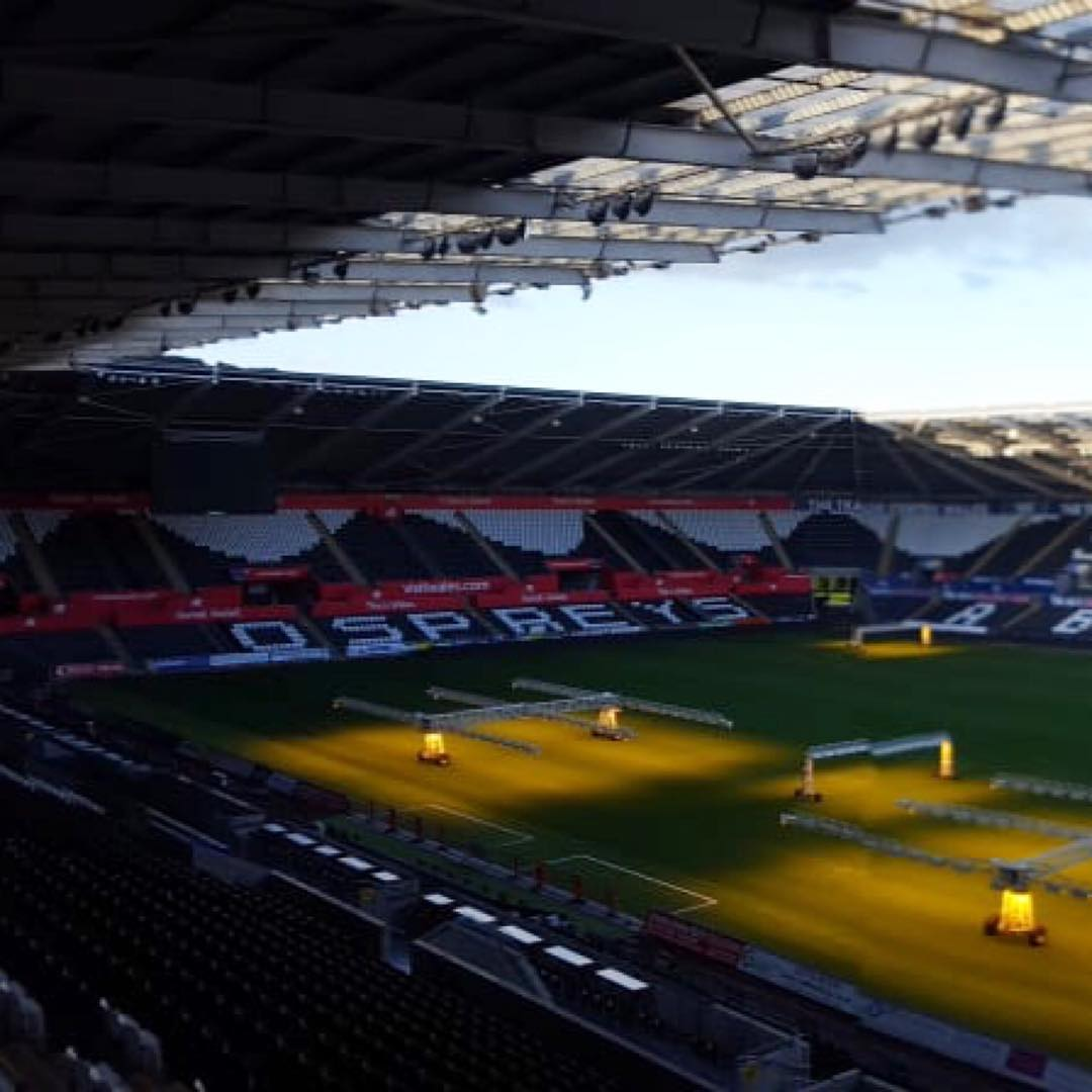 Swipe left!  Sponsorship boards for Trade Centre Wales at the Liberty Stadium, Swansea. More details for follow on our website www.sswales.com