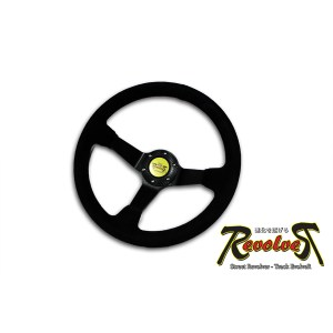 Revolver R Steering Wheel 350mm Deep Suede