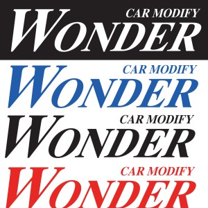 Car Modify Wonder logo Sticker Decal
