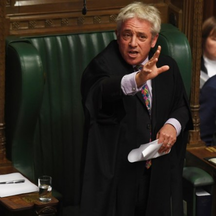 John Bercow in parliament
