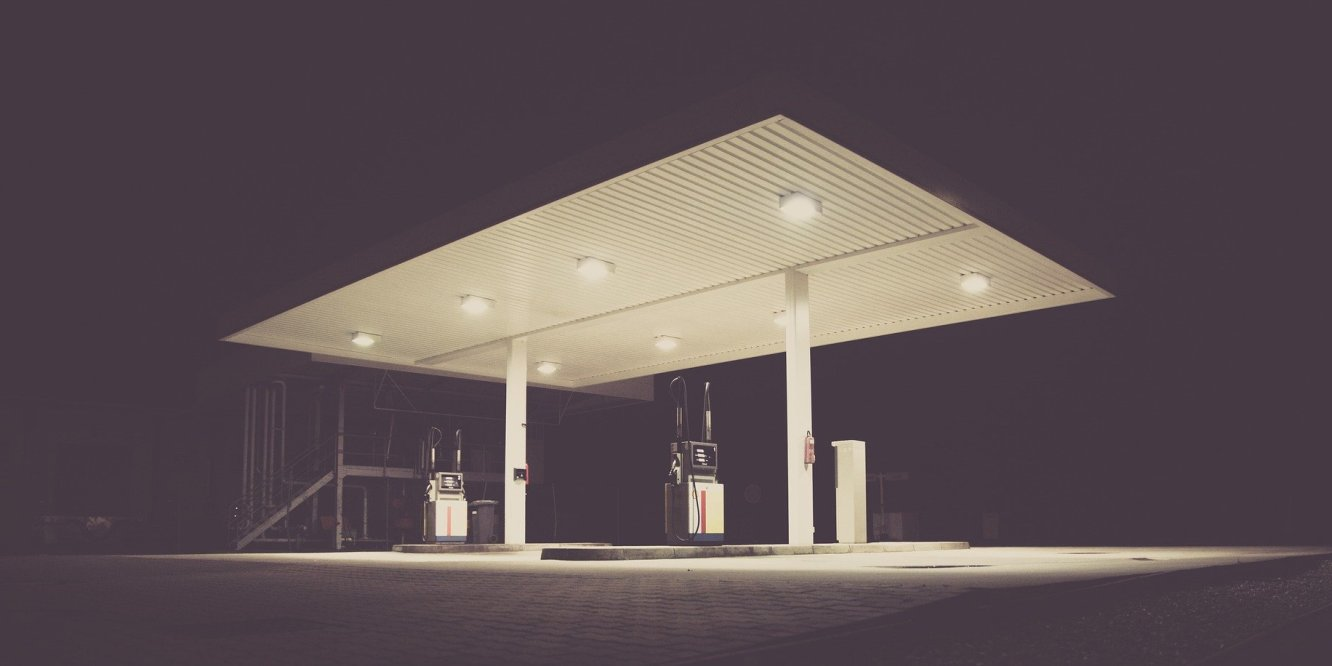 No fuel - an empty filling station