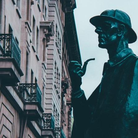 Sherlock Holmes statue in London