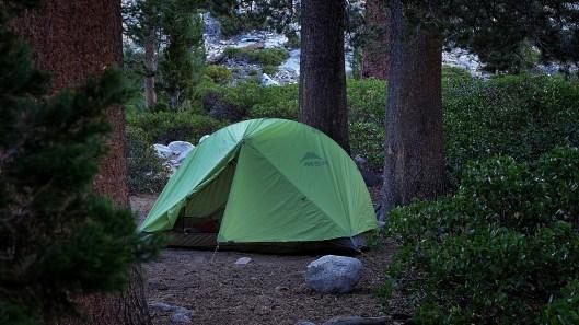 John Muir Wilderness: Erste Nacht alleine im MSR Carbon Reflex 2 in Kaliforniens Sierra Nevada
