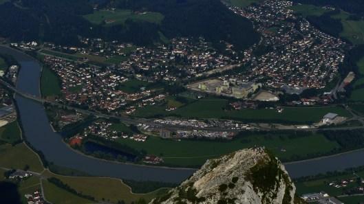 Ichsounterwegs mit meinem Privat-Helikopter: Blick auf die Naunspitze (und Kiefersfelden) von oben