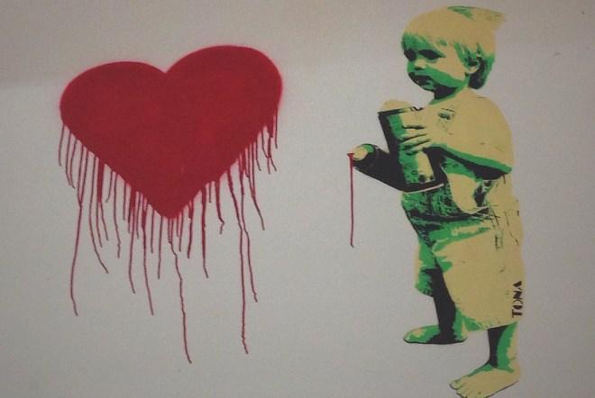 Mein Herz und fette Props für BR-Intendant Uli Wilhelm (Artist: TONA im Rahmen der Millerntor Gallery 2014)