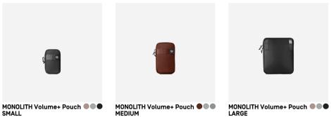 M.O.L.L.E. System: Drei der vier verschiedenen Zusatzpacks für alle Monolith-Taschen (Foto: Screenshot heimplanet.com)