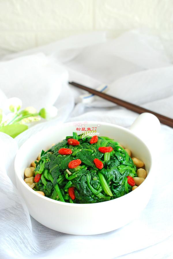 養生菠菜的做法_養生菠菜怎么做_松鼠魚77_美食杰