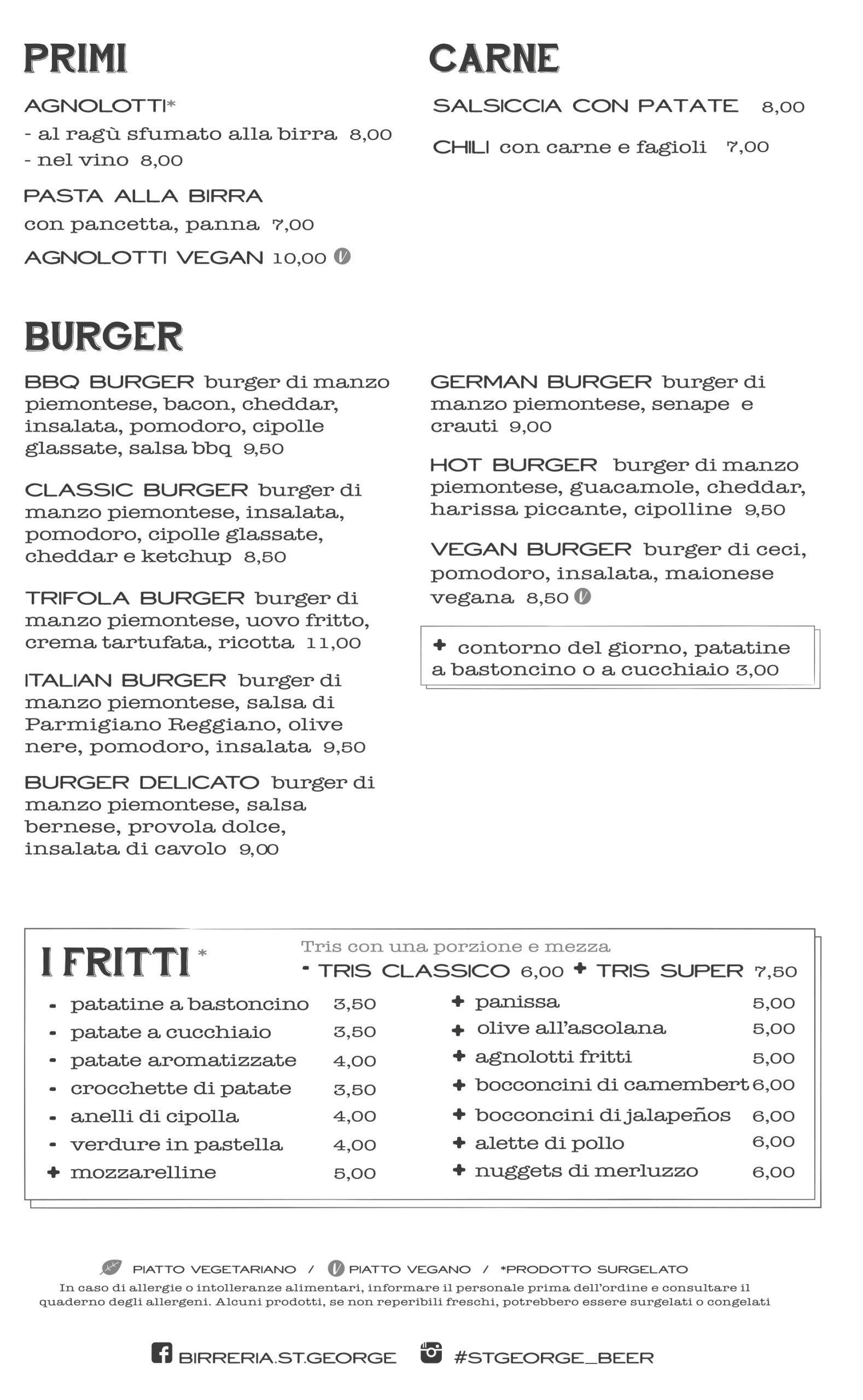 menu birreria novi ligure