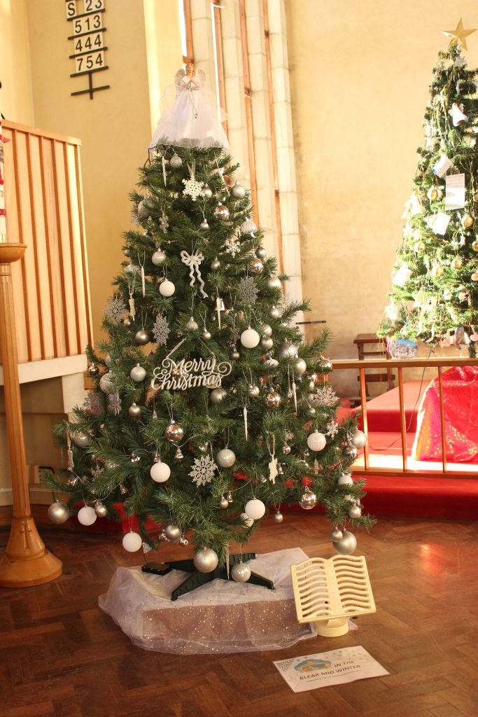"St. Michael's Church Tree on theme ""In the Bleak mid winter"""