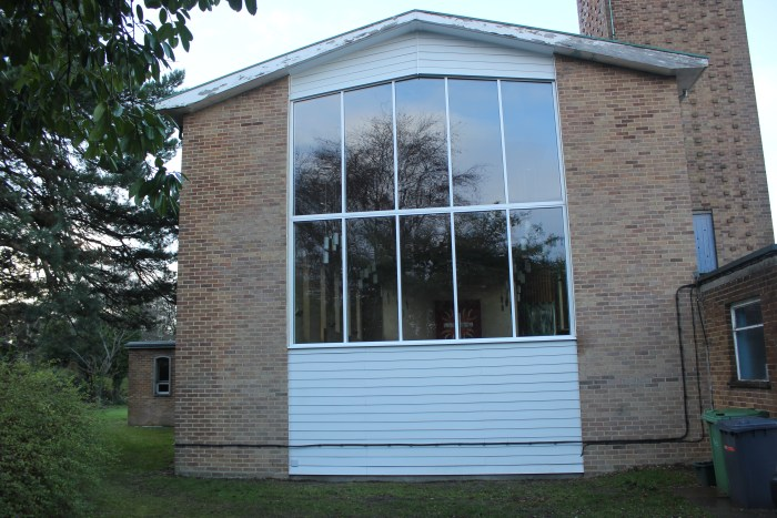 The new look rear of the Church