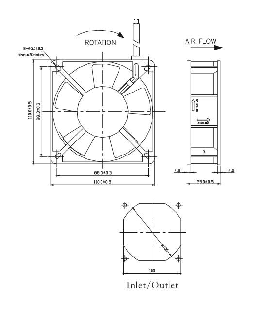 AC 11025 Series Axial Fan