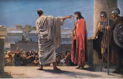 Jesus before Pilate, from Hulberts Story of the Bible p... (#646864)