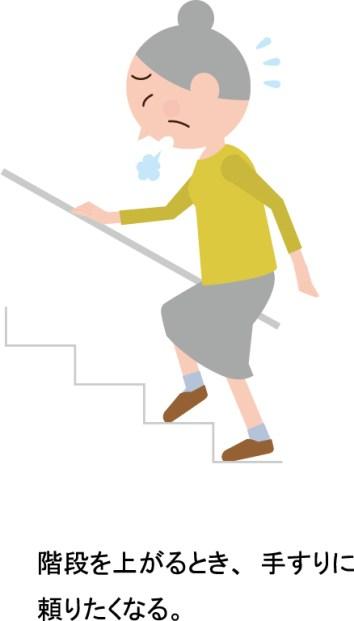 階段を上がるとき、手すりに頼りたくなる。