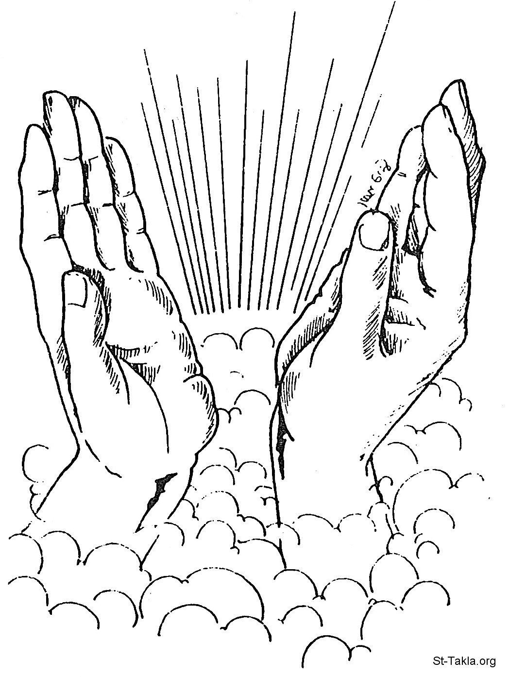 Coloring Open Hands With Chains Coloring Pages